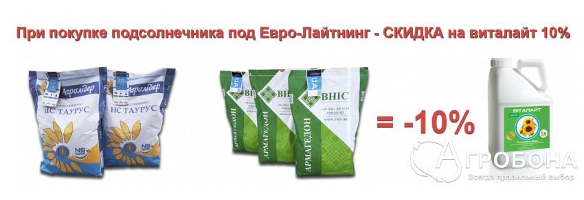 Покупай подсолнечник под Евролайтинг - получай скидку на Виталайт 10%