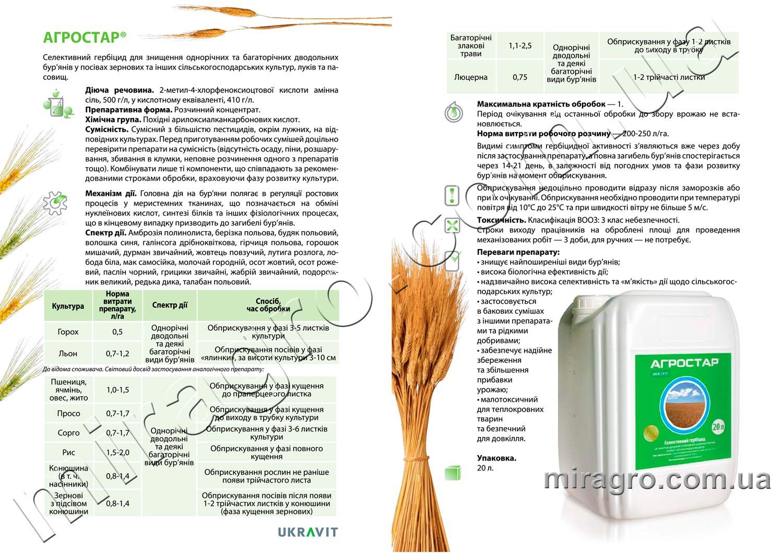 Описание гербицида Агростар
