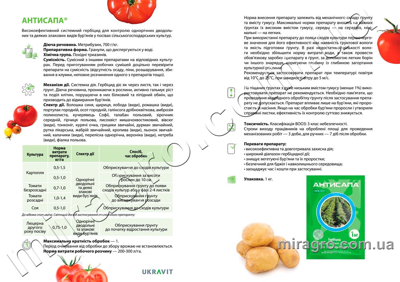 Описание гербицида Антисапа