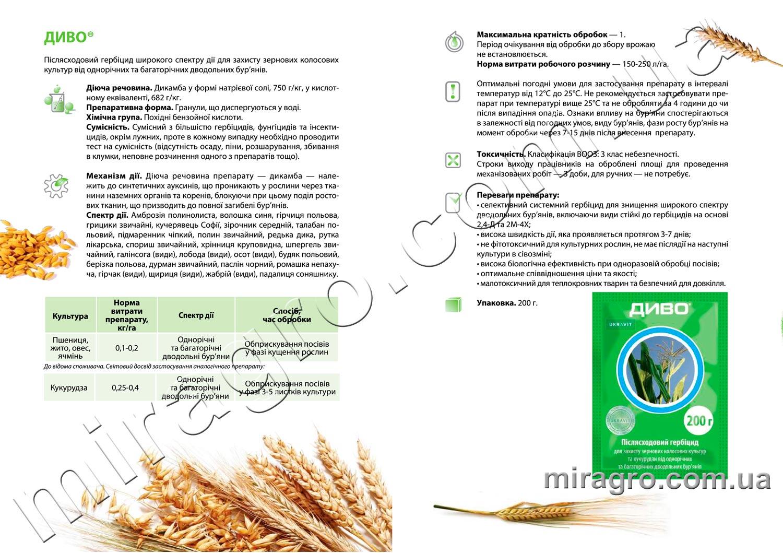 Описание гербицида Диво