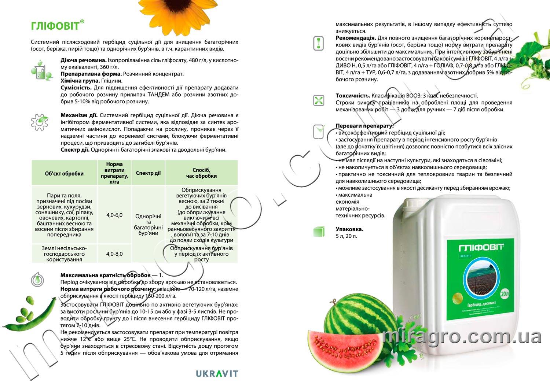 Описание гербицида Глифовит