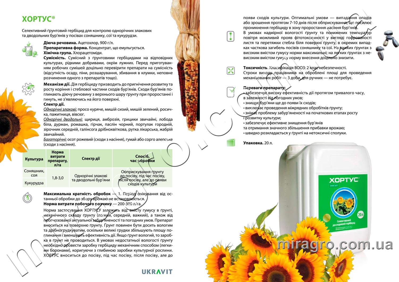 Описание гербицида Хортус