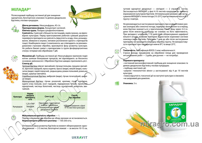 Описание гербицида Миладар
