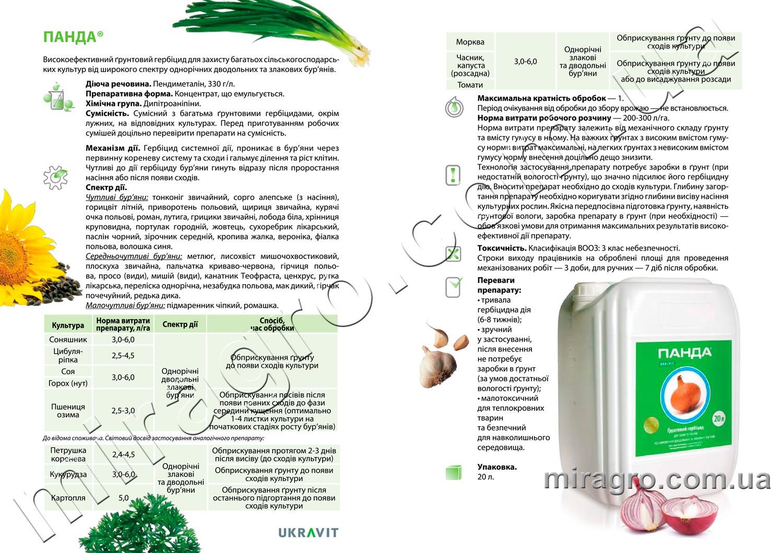 Описание гербицида Панда