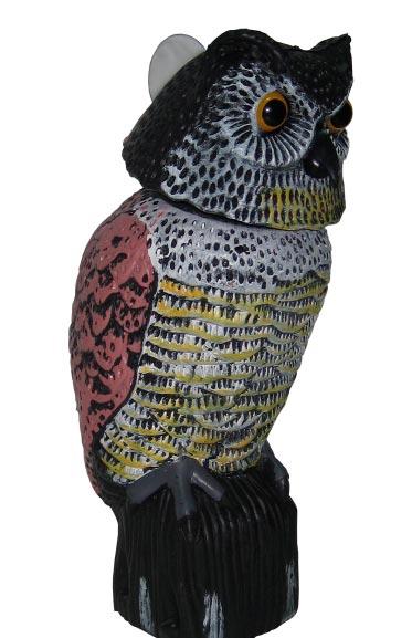 Муляж совы с подвижной головой для отпугивания птиц